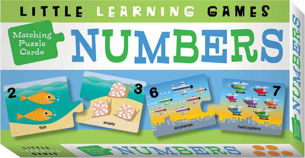 Matching Puzzle Cards Numbers Cover